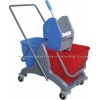 China Twin Bucket Wringer Trolley for sale