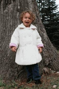 China Magpie by Mack & Co Ivory Soft Berber Winter Girls Coat 4 Last 1 on sale
