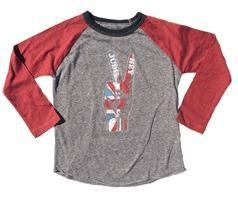 China Rowdy Sprout Hey Jude Tween Boy's Raglan L/S Tee 10 12 on sale