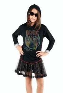China Rowdy Sprout Black Hooded ACDC Boy's/Girl's Tee *Top Seller* 10 12 on sale