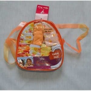 China Cotton Girls Brief/Slip With PVC School Bag Packing Nice Underwear on sale