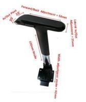 China Ergo arms Adjustable Arm Rest with 4D Multi-function Arm Pad H634AL2 (CH & BK) + PU-1834-4 on sale