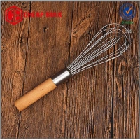 China Stainless Steel Egg Whisk with Wooden Handle on sale