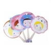 China Promotional Summer Cartoon and Lovely Printing Plastic Hand Fan for Kids for sale
