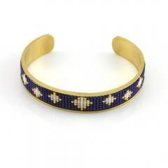 China Miyuki Cuff Bracelets Gold Cuff Bangle Bracelet Exporter on sale