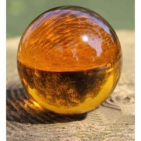 Crystal Ball With Yellow Color