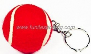 China 1.5''Red Tennis Ball Keychain on sale