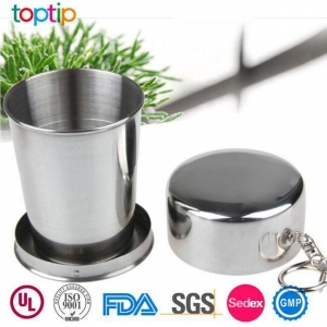 China Stainless Steel Outdoor Travel Folding Cup on sale