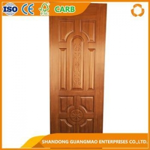 China wood veneer coated melamine paper faced MDF door skin on sale