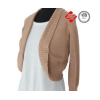 China Beige red woman knitted cardigan sweater with knitting belt on sale