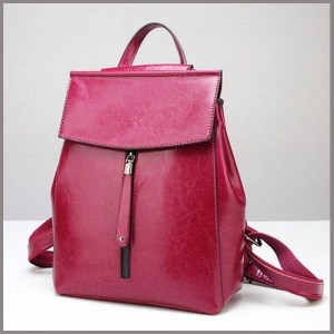 China ladies leather backpack bags on sale