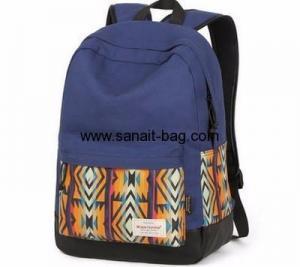 China Custom design canvas travel bag school bag backpack teenage WB-126 on sale