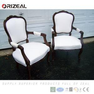 China Orizeal Vintage Retro French Louis XV Style Chair With Fabric Upholstered And Carved Wood Frame on sale