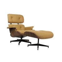 Ottoman Upholstered Chaise Lounge Leather Easychair