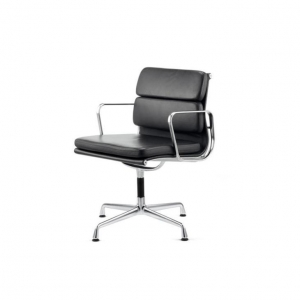 China Eames Ea 208 Soft Pad Black Leather Office Chair on sale