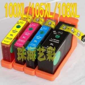 China LEXMARK 100 105 108 100XL 105XL 108XL Ink Cartridge Compatible 100% New on sale