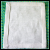 China 100 linen made 10x10cm cocktail napkin with mitred corner on sale