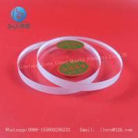 transparent silicate quartz glass lenses