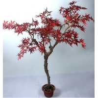 China Item name: Factory cheap price 180cm artificial red maple tree bonsai for sale on sale
