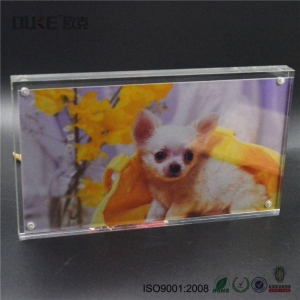 China Magnetic Acrylic Block Frames Photo Block Picture Frame on sale