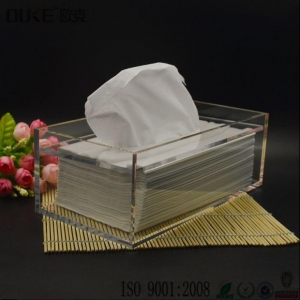 China Clear Acrylic Tissue Box\Custom Acrylic Box\Plastic Box With Lid on sale