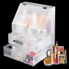 China Promotional Frosted Acrylic Makeup Organizer-Makeup Dividers-Acrylic Shelves for sale