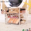 China Cute Crystal Cosmetic Storage And Makeup Organizer With 3 Drawers for sale