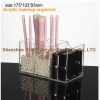 China 6 Compartment Acrylic Makeup Organzier-Cosmetic Brush Holder for sale