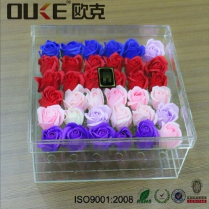 China Manufactures Wholesale Clear Square Acrylic Flowers Display Box on sale