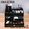 China Black Makeup Organizer Lucite Acrylic Makeup Box With Drawers for sale