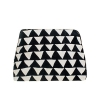 China black and white geometric cotton makeup bag(CB5402) for sale