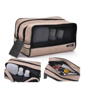 China travel men makeup bag with mesh panel front (CB5240) on sale