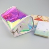 China holographic iridescent PVC TPU hologram Cosmetic Bag(CLB5350) for sale