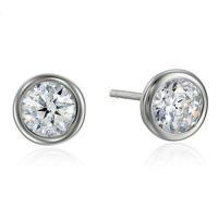 925 silver earring cz cubic zirconia stud ear Item:LDE-W002