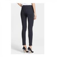 China Black Ripped Denim Jeans on sale