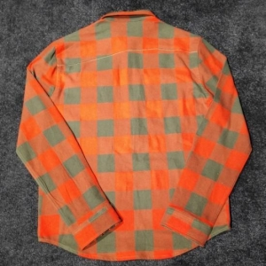 China Orange Men's Slim Fitted Checked Half Zipped Shirts on sale