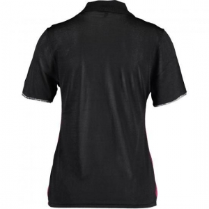 China Red & Black Contrast Colors Polo Shirt on sale