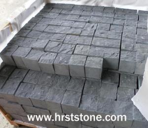 China Cube-kerb-paving Black basalt granite on sale