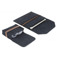 China New hot selling wool felt laptop sleeve bags with mouse bag for apple Macbook air pro on sale