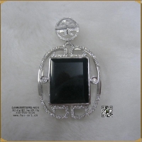China Platinum Diamond Blackish Green Pendant on sale