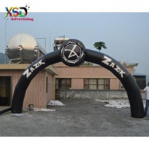 China Advertising sales inflatable black arch with tyre / inflatable tire arch on sale