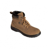 High ankle nubuck leather pu sole safety shoes