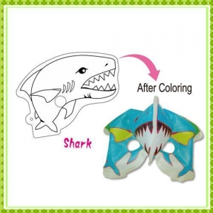 China DIY Painting Toy shark mask on sale