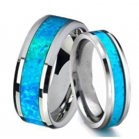 Jewelry Queenwish Vintage Opal Tungsten Carbide Rings Jewelry