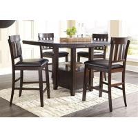 Langlois Furniture Muskegon Mi Haddigan Brown Rectangular Counter Height Table W 4 Stools