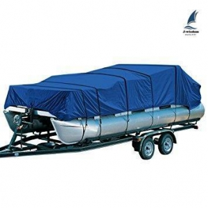 China Deluxe Pontoon Boat Covers Solution Dyed Polyester 17 Foot - 28 Foot on sale