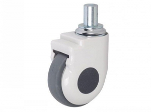 China universal casters/Thread Swivel wheels for medical trolley(without brake) on sale