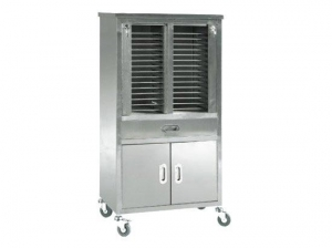 China Hospital Stainless Steel File Cabinet Cart Trolley on sale