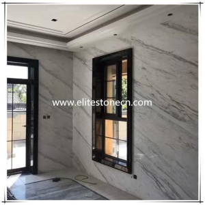 China ES-M11 Greece Volakas White Marble Own Quarry Slab Tile For Floor and Wall Project on sale