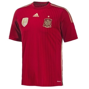 China adidas Spain 2013-14 Official Home Youth Soccer Jersey - model G85231 on sale